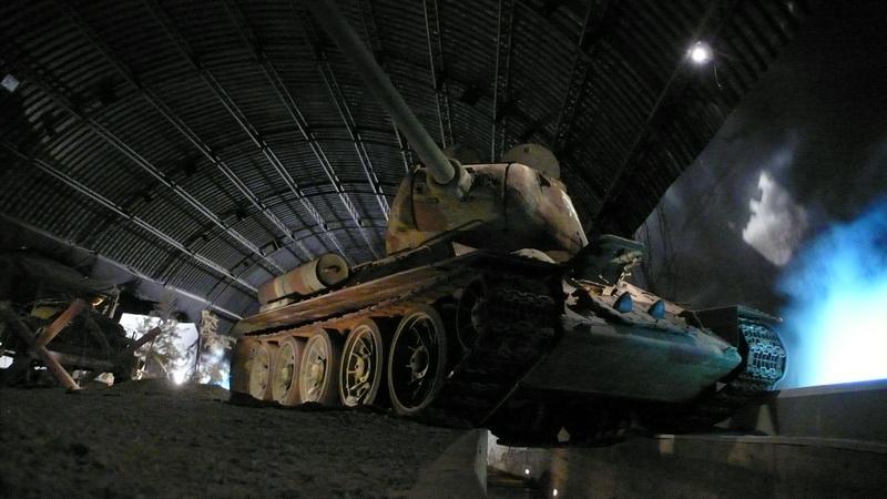 Sovětský tank T-34 v expoziční hale věnované Ostravské operaci