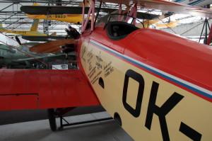 Replika letounu Avia Ba-122 akrobata Františka Nováka