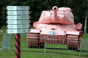 Sovětský těžký tank IS-2 pocházející z pražského Smíchova