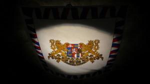 Standarda prezidenta republiky ve střední části expozice