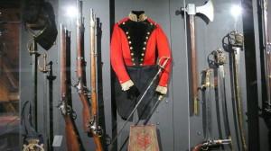 Vitrína věnovaná napoleonským válkám
