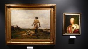V obrazové galerii jsou bitevní scény i portréty vojevůdců a panovníků