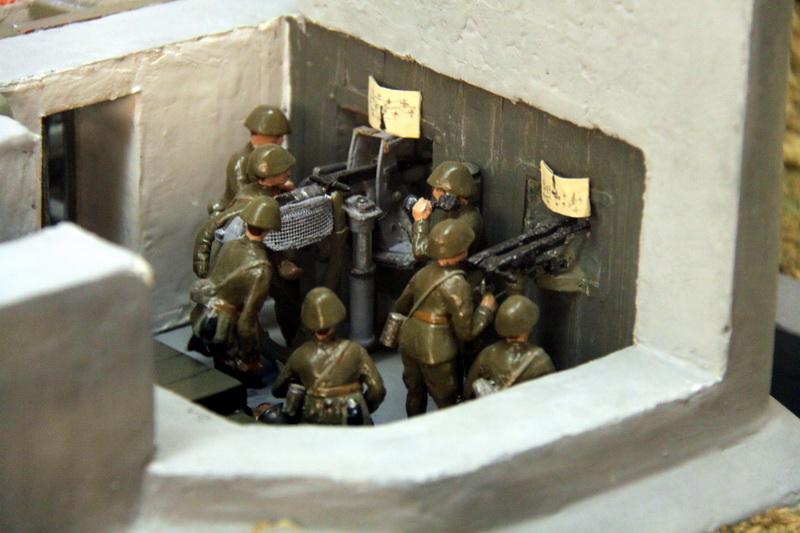 Model umístení kanónu v pevnosti