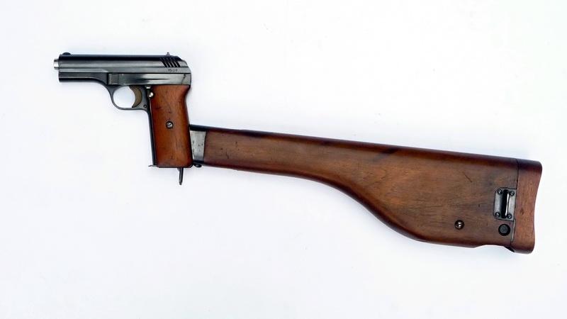 Čs. pistole ČZ vz. 28 s nástavnou pažbou 55c54e3503