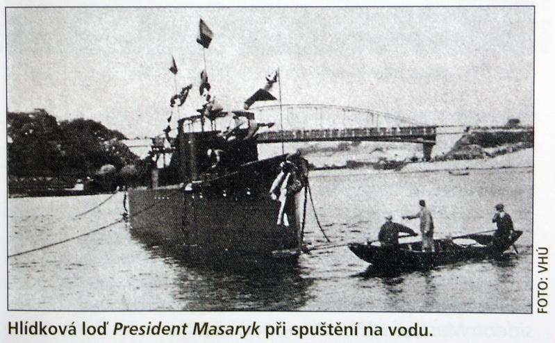 Československému lodnímu vojsku dominoval padesátimetrový Masaryk