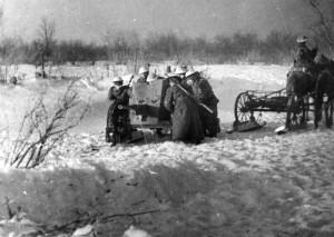 10  - Protitankový kanón vzor 1937 ráže 45 mm čety protitankových kanónů protitankové roty 1. polního praporu