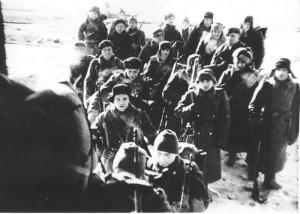 15 - Odjezd 1. polního praporu 30. 1. 1942 z nádraží v Buzuluku