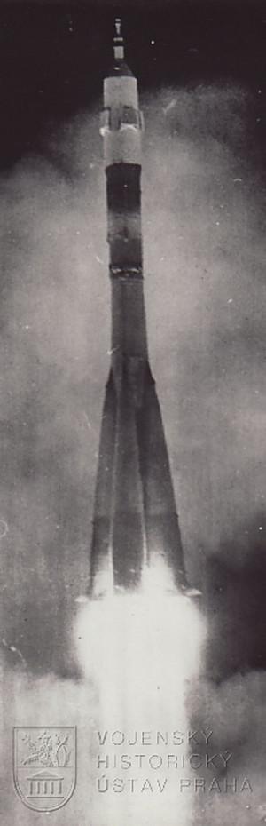 Start rakety s V. Remkem