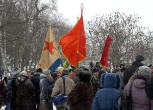 Vlajky ruských a ukrajinských veteránských organizací