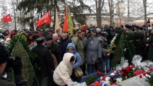Pietní akt u hromadného hrobu obránců Sokolova
