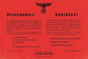 Vyhláška ze 17. listopadu 1939 o uzavření českých vysokých škol a popravě studentů