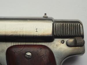 Pistole Fox v ráži 7,65 mm Browning (výrobní číslo)