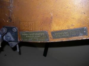 Části letounu Hansa-Brandenburg D.I (KD) (výrobní štítky)