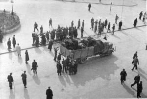 Povstání v Nymburce 2. května 1945. Foto archiv VHÚ.