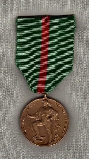 Československá Jánošíkova medaile (přední strana)