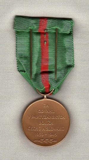 Československá Jánošíkova medaile (zadní strana)