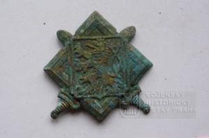 Stříbrný čepicový odznak (foto Dolní Vilémovice - VHU)