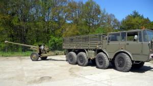 100mm protitankový kanón vz. 53 a Tatra 813