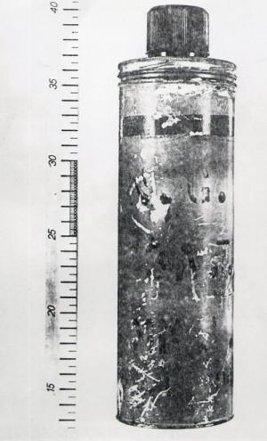 Perkusní bomba. Foto archiv VHÚ.