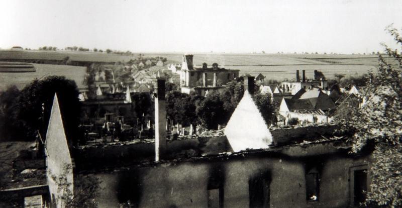 Vypálená obec Lidice