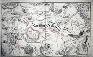 Rozmístění vojsk v bitvě u Kolína. Foto archiv VHÚ.