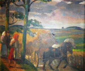 František Bílek, Sklizeň sena, Československo, kolem poloviny 20. století