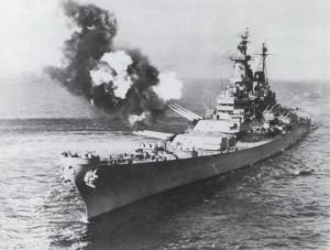 Říjen 1950, nasazení bitevní lodi Missouri