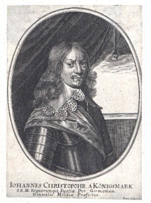 Švédský polní podmaršálek německého původu Hans Christoff hrabě von Königsmarck. Repro sbírka VHÚ.