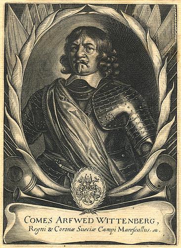 polní podmaršálek Arvid hrabě Wittenberg. Repro sbírka VHÚ.