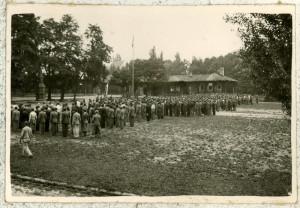 Československý vojenský tábor v Malých Bronowicích u Krakova. Foto sbírka VHÚ.