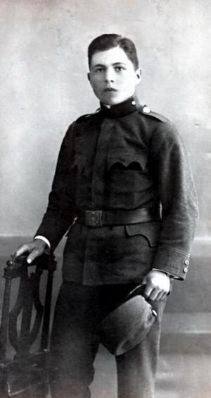 Václav Kropáček v Tarnově v roce 1916. Foto sbírka VHÚ.