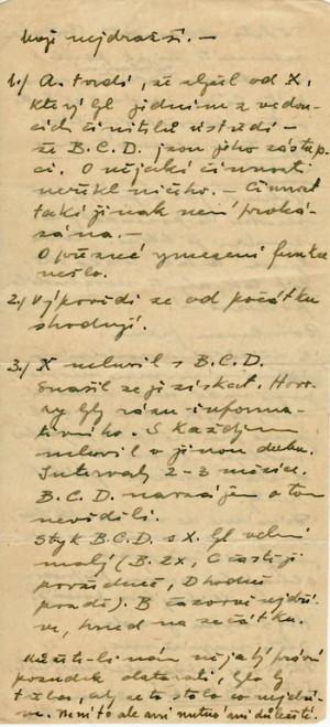 Moták adresovaný Boženě Kropáčkové z pankrácké věznice. Foto sbírka VHÚ.