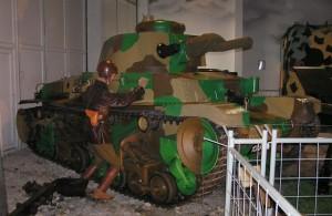 Tank LT již ve VTM Lešany, před renovací motoru. Foto sbírka VHÚ.