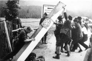 Co následovalo: boření hraničních symbolů na přelomu září a října 1938.