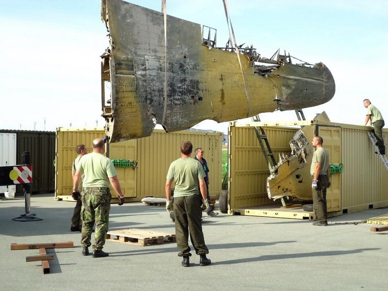 Nakládání letounu v Norsku