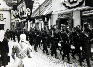 Po Mnichovu: čs. vojáci odcházejí z pohraničí. Foto sbírka VHÚ.