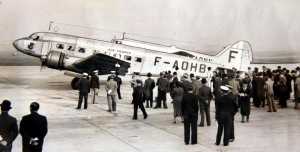 Odlet francouzské delegace na mnichovská jednání. Foto sbírka VHÚ.