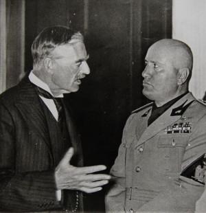 Neville Chamberlain a Benito Mussolini. Foto sbírka VHÚ.