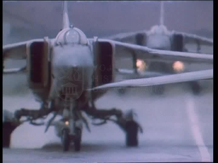 Cvičení Štít 1984 – hromadný vzlet na letišti v Žatci