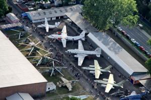 Současnost: letecký pohled na areál LM Kbely