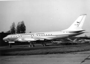 Dopravní letou Tupolev Tu-104 po předání od ČSA v roce 1973. Foto sbírka VHÚ.