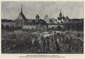 Boj u Grimmské brány v úterý 19. října 1813. Foto sbírka VHÚ.