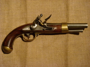 Francouzská jezdecká pistole vzor AN IX. Foto sbírka VHÚ.