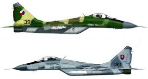 Letouny MIG-29 si česká a slovenská armáda rozdělily v poměru 1:1