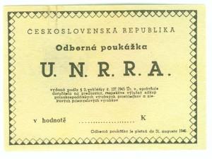 Poukázka na zboží UNRRA