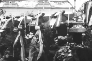 Pohřeb maďarských vojáků v Mukačevu. Foto sbírka VHÚ.