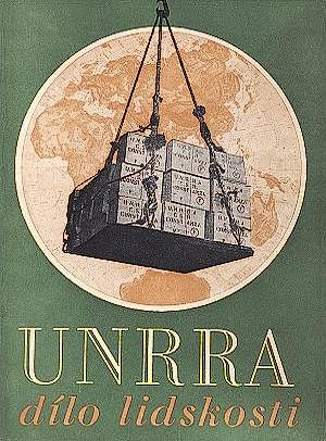 Dobový leták UNRRA