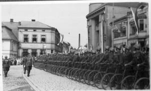 F. Konopásek byl velitelem cyklistického praporu 1 v Josefově. Foto sbírka VHÚ.