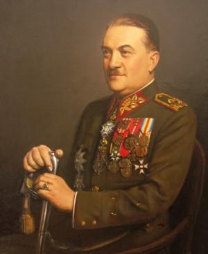 Div. gen. Alois Eliáš, v Beranově vládě ministr dopravy, na portrétu Rudolfa Brachtla. FOTO: sbírka VHÚ Praha
