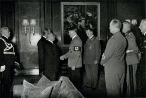 Osudové setkání prezidenta Emila Háchy s Adolfem Hitlerem. FOTO: sbírka VHÚ Praha